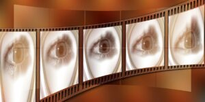 filmstrip, eye, cinema strip